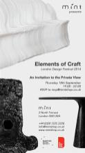 Mint Elements of Craft notice