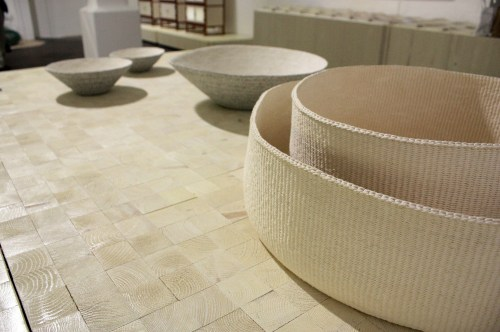 Paper string baskets by Kang Seong-hi (r) and Kim Eun-hye