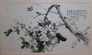 Chosonhwa painting at the DPRK Embassy