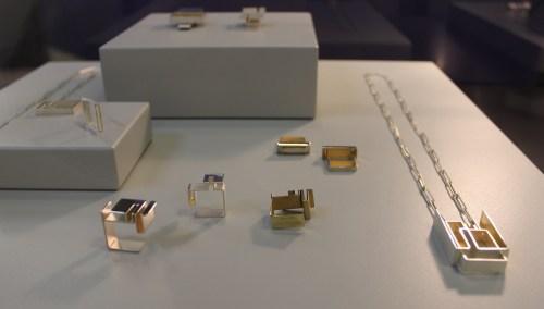 Geometric jewellery from Heeyoung Kim