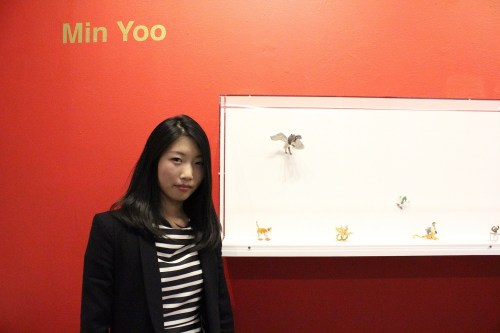 Min Yoo with some of her creations