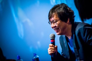 Park Chan-kyong answering questions at the Odeon Covent Garden on 10 November 2014