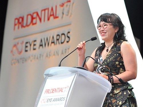 Shin Meekyoung at the Prudential Eye Awards on 20 January 2015