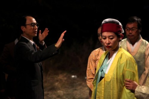 An evangelical minister tries to exorcise Kim Geum-hwa