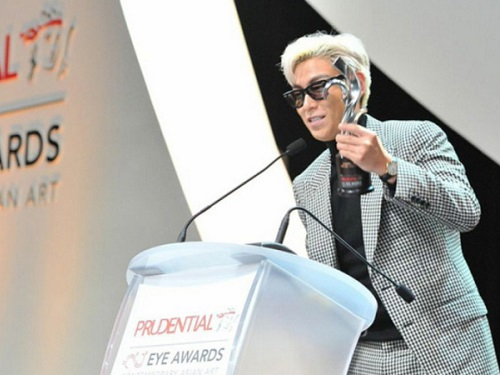 TOP from Big Bang receives the Visual Culture Award for South Korea