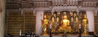 Inside the main shrine building at Gilsangsa