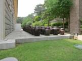 Kimchi jars behind the museum