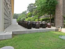 Kimchi jars behind the museum
