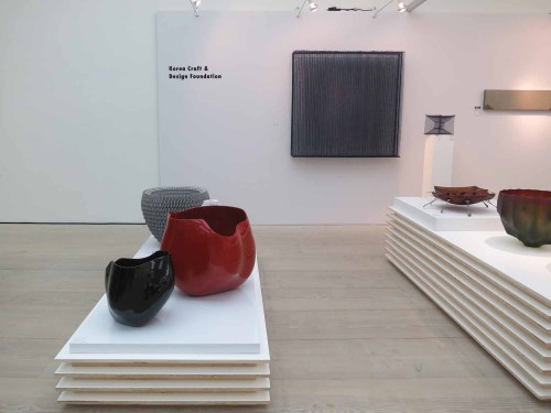 The Korea Craft and Design Foundation stall at Collect 2015