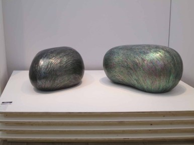Hwang Sam-yong: Pebbles. Stone inlaid with mother of pearl