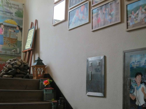 The stairs leading up to Studio MWP