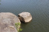 The Uiam, the Righteous Rock - the inscription is still just visible above the waterline