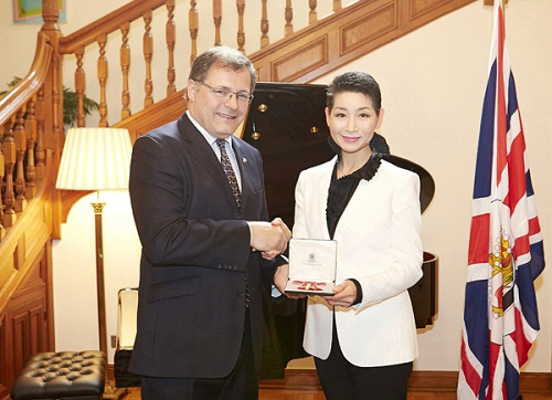 Ambassador Charles Hay with Kim Sungjoo