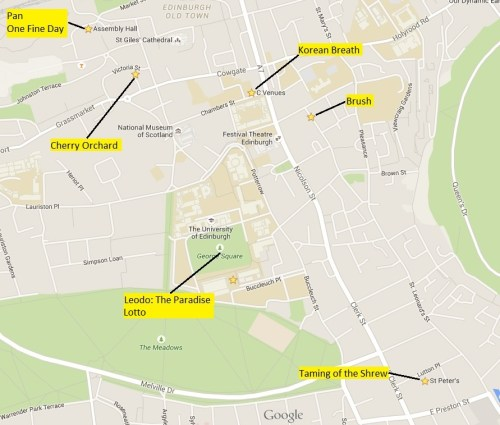 Edinburgh map annotated