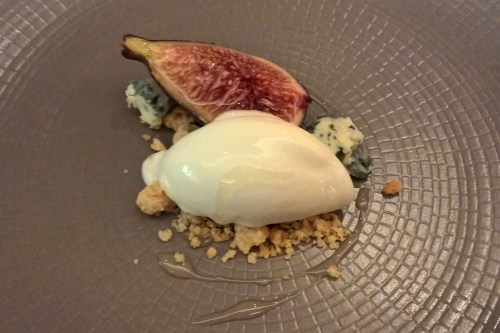 English fig, blue cheese ice-cream, ginseng honey