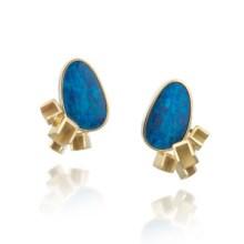 Hee Young Kim: Cube Opal Earrings