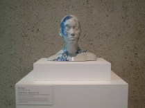 A ceramic bust by Ah Xian, in QAG's permanent collection