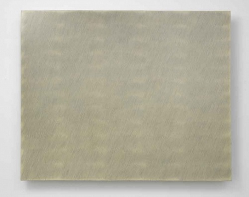 Park Seo-Bo: Ecriture (描法) No. 26-75 (1975). Pencil and oil on canvas 131 x 162 cm