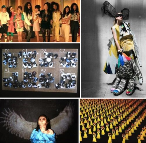 Clockwise from top left: Benson Lee's Seoul Searching; graphic for the KCC's fashion exhibition Print Matters, and works by Noh Suntag, Kim Sung-hwan and Park Junebum