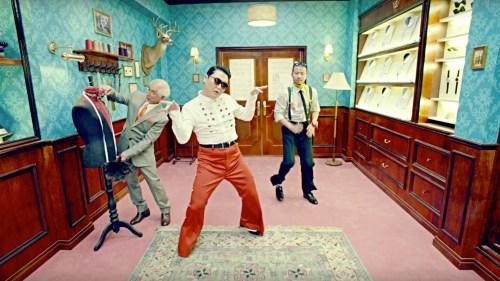 A still from Psy's Napal Baji music video