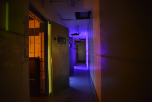 The eerie corridor leading to the cells