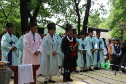 Daegwallyeong Sanshinje: the ceremony draws to a close