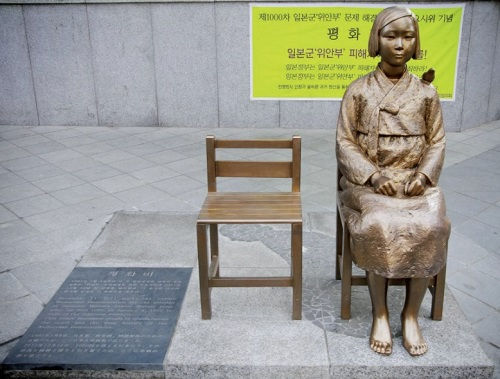 Comfort Woman statue in Seoul