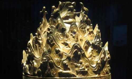 Baekje Gilt-bronze incense burner