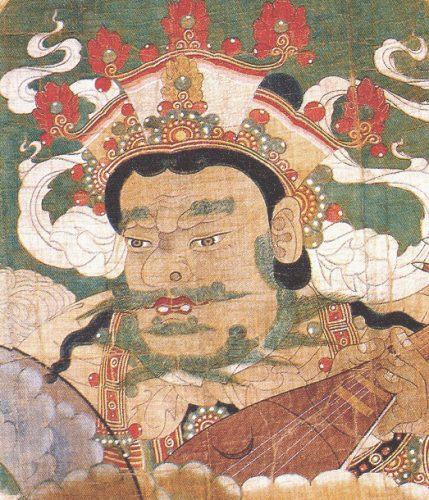 One of the Guardian Kings in the Hwaeomsa painting
