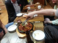 Makgeolli and more somewhere in Insadong