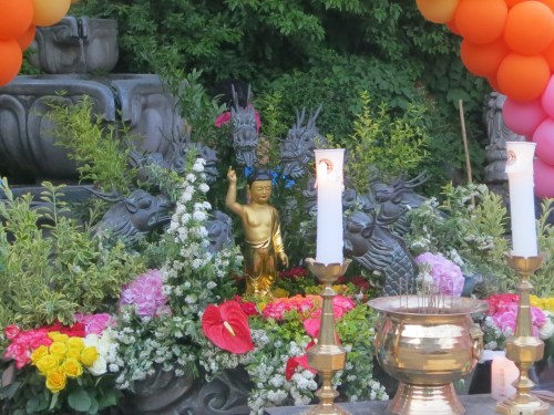 Baby Buddha surrounded by dragons at Bongwonsa