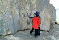 The rock inscribed by Uam Song Si-yeol on Bogildo