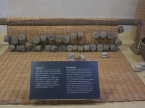 Mat-weaving exhibit in the National Folk Museum