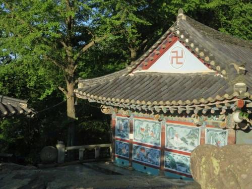 Goransa's prayer hall seen from behind