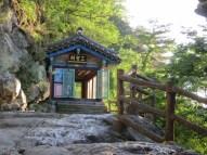 The sanshin shrine behind Goransa's main prayer hall