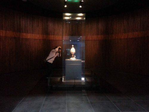 The incense burner in situ