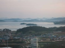 The view west from the hotel in Ttangkkeut Maeul at 6am