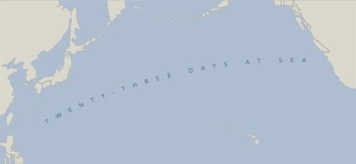23 days at sea