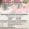 Thumbnail for post: Event news: Korean Cultural Day(s) at New Malden Methodist Church