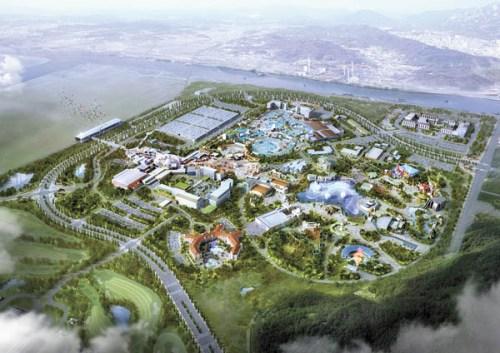 Computer image of the Universal Studios