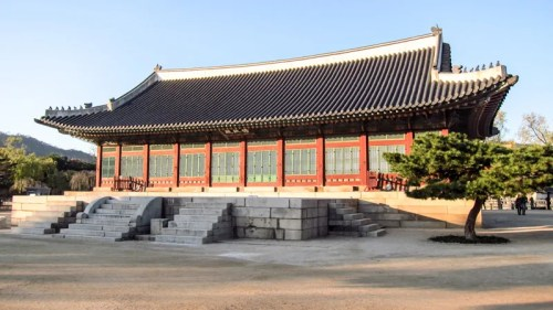 The Sujeongjong Hall in the Gyeongbokgung Palace