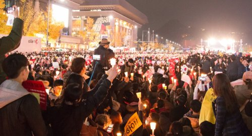 Candle-light demonstration in Seoul