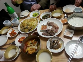 Anju for Makgeolli, in Nakwondong, Seoul