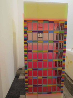 Jaye Moon: My neighborhood (2005). Lego, plexiglas, stainless steel