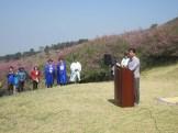 The opening ceremony of Sancheong's 2017 Hwangmaesan Royal Azalea Festival
