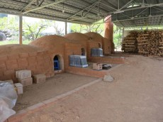 Kyung-sook's new kiln, awaiting its first firing