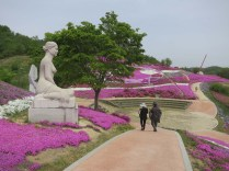 The Ground Pink Festival in Saengcho's International Sculpture Park