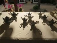Evening teapots at the Mungyeong tea bowl festival