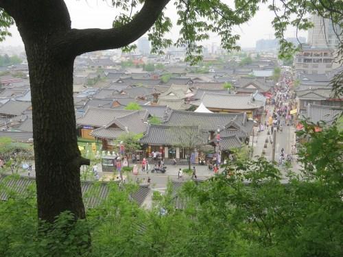 A view over Jeonju Hanok Village