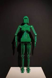Taewon Hwang: Annie the Robot with cone bra (Green) (2017)
